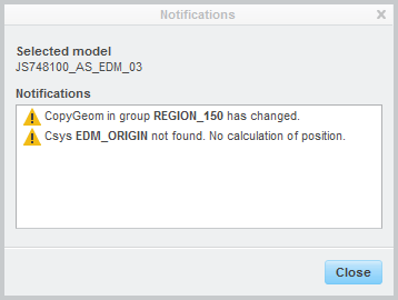 Detailed notification window