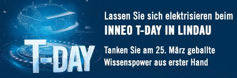 Lassen Sie sich elektrisieren beim INNEO T-DAY IN LINDAU