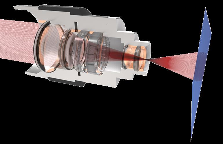 Objektiv mit Strahlengang - Symbolbild SMARTOptics